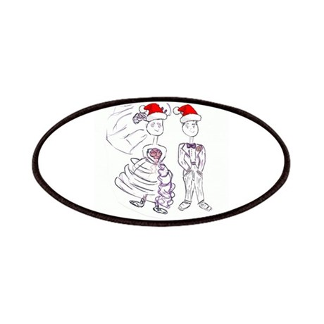 Christmas Bride and Groom Patches