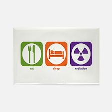 Eat Sleep Radiation Rectangle Magnet