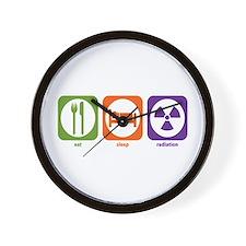 Eat Sleep Radiation Wall Clock