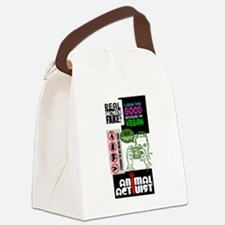 Vegan and Animal Rights Scrapbook Canvas Lunch Bag