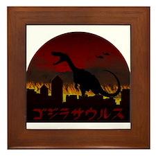 Gojirasaurus Framed Tile
