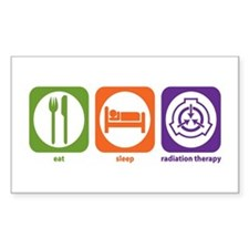 Eat Sleep Radiation Therapy Rectangle Decal