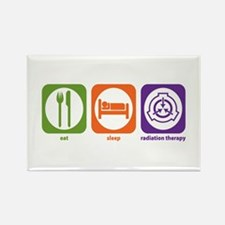 Eat Sleep Radiation Therapy Rectangle Magnet