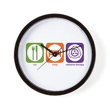 Eat Sleep Radiation Therapy Wall Clock