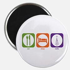 """Eat Sleep Radio 2.25"""" Magnet (100 pack)"""
