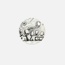 5 Lost Wandering Men Illustration Mini Button