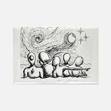 5 Lost Wandering Men Illustration Magnets