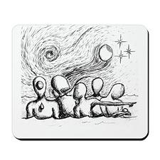 5 Lost Wandering Men Illustration Mousepad
