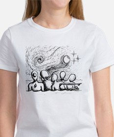 5 Lost Wandering Men Illustration T-Shirt
