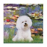 Llies & Bichon Tile Coaster