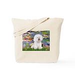 Llies & Bichon Tote Bag