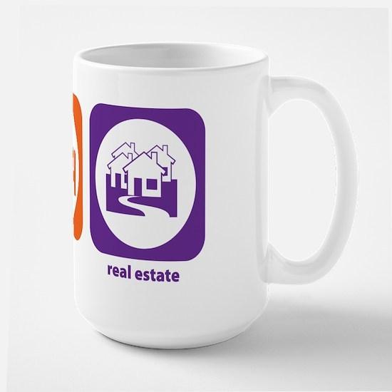Eat Sleep Real Estate Large Mug