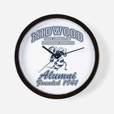 Midwood Alum Hornet Front Wall Clock