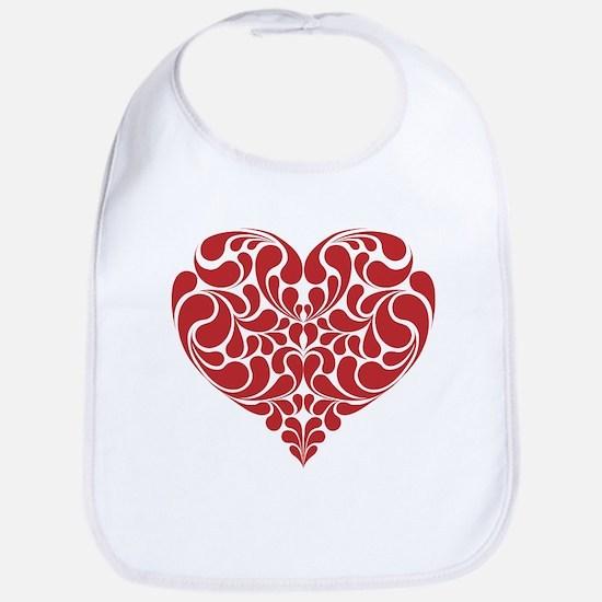 Real Heart Cotton Baby Bib