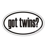 got twins? Euro Oval Sticker