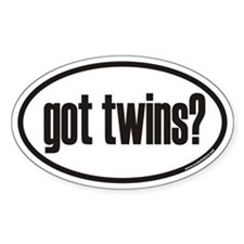got twins? Euro Oval Bumper Stickers