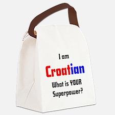 i am croatian Canvas Lunch Bag