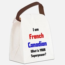 Cute French canadian Canvas Lunch Bag