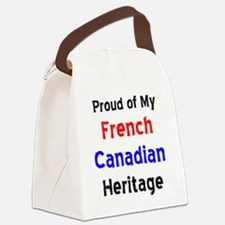 Unique French canadian Canvas Lunch Bag