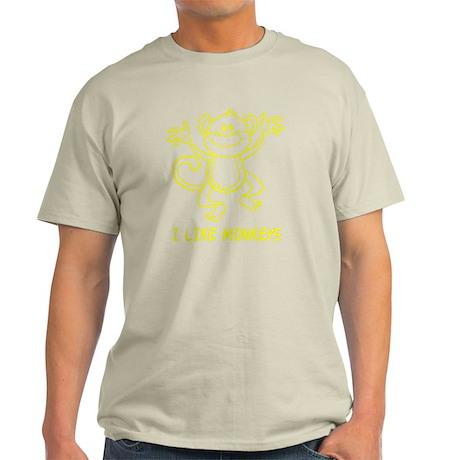 I Like Monkeys Light T-Shirt