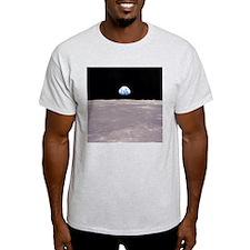 Apollo 11 Earthrise on the Moon Ash Grey T-Shirt