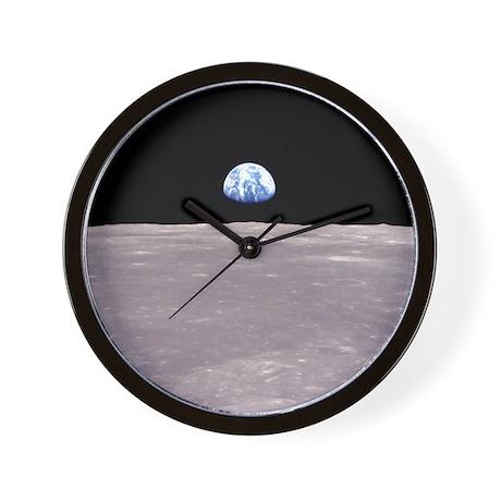 Apollo 11 Earthrise on the Moon Wall Clock