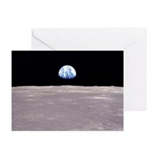 Apollo 11 Lunar Earthrise Greeting Cards (Pkg 6)