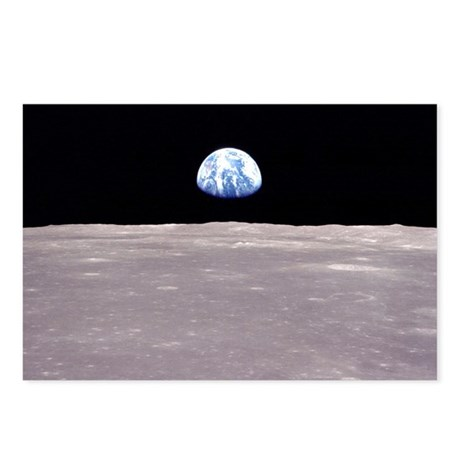 Apollo 11 Lunar Earthrise Postcards (Pkg of 8)