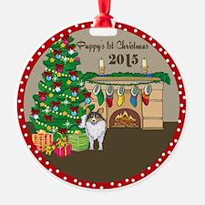 2015 Sheltie 1St Christmas Ornament