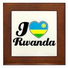 I love Rwanda Framed Tile