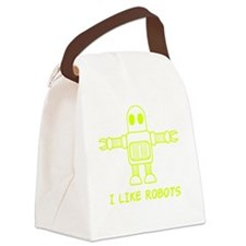 I Like Robots Canvas Lunch Bag