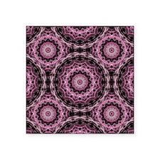 "Pink Royal Pattern Square Sticker 3"" x 3"""