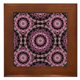 Pink mandala Framed Tiles