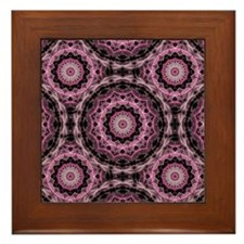 Pink Royal Pattern Framed Tile