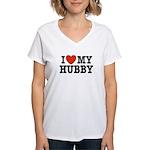 I Love My Hubby Women's V-Neck T-Shirt