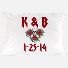 Personalized Dates Monogram Pillow Case