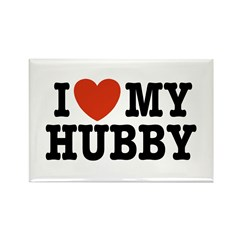 I Love My Hubby Rectangle Magnet
