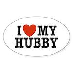 I Love My Hubby Oval Sticker