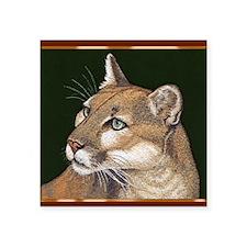 "Mountain Lion Square Sticker 3"" x 3"""