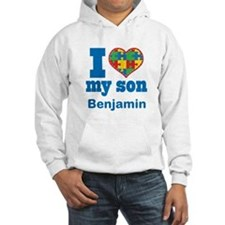 Personalized Autism Son heart Hoodie