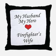 Firefighter's Wife Throw Pillow