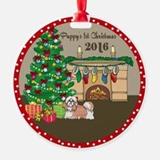 2016 Shih Tzu 1St Christmas Ornament