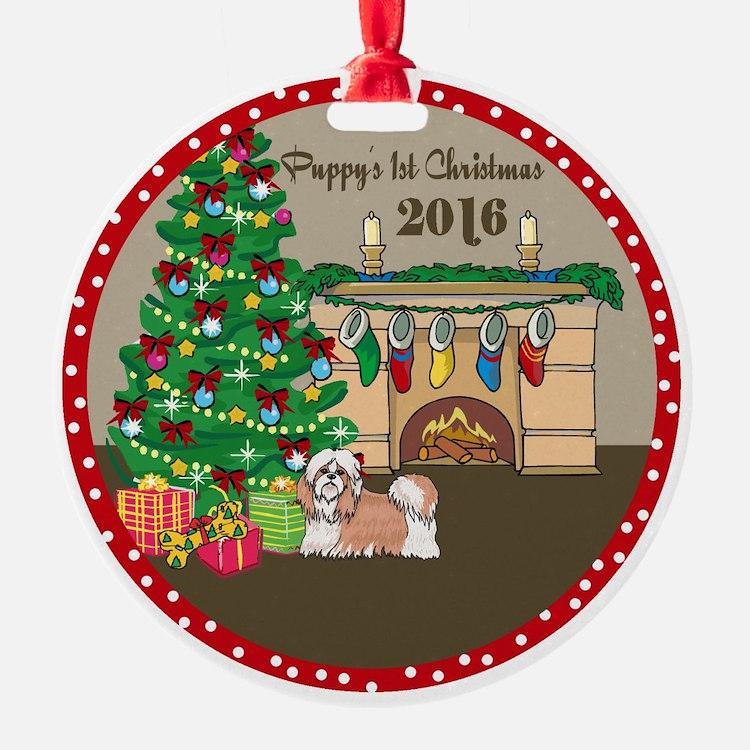2016 Shih Tzu 1St Christmas Ornament