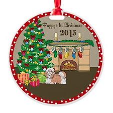 2015 Shih Tzu 1St Christmas Ornament