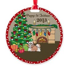 2013 Shih Tzu 1St Christmas Ornament