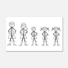 Super Family 1 Boy 2 Girls Wall Decal
