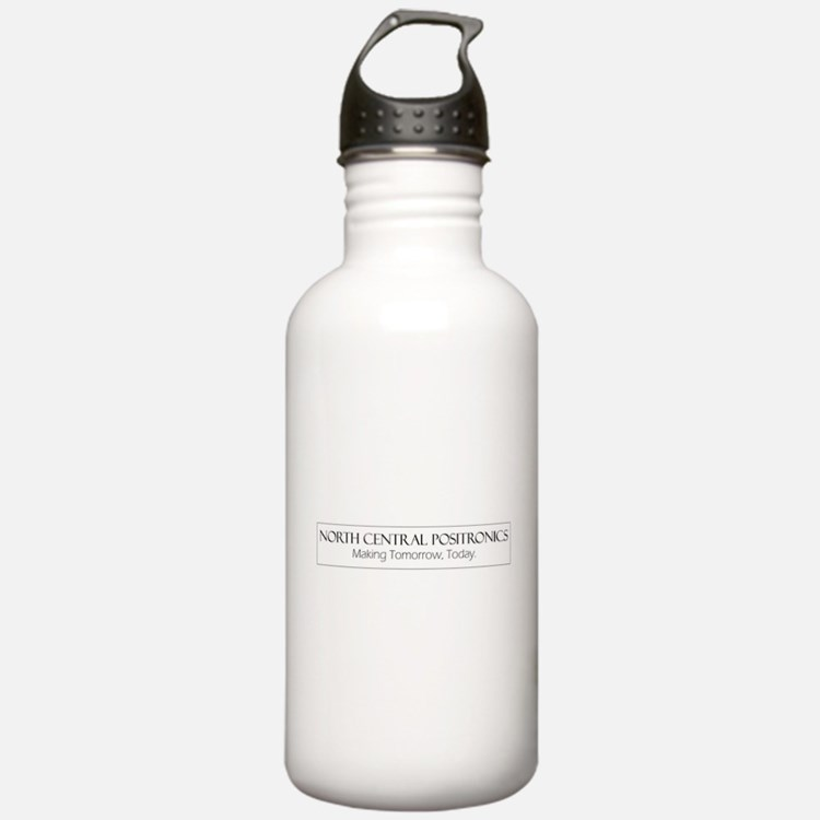 North Central Positronics black Water Bottle