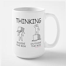 Thinking Inside the Box versus Outside the Box Mug