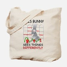 This Bunny Sees Things Differently Tote Bag