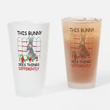 This Bunny Sees Things Differently Drinking Glass